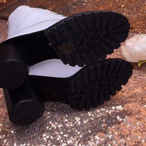 Marc Jacobs Shoes - Marc Jacobs White Leather Combat Boots 6.5M